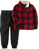Carter's 2-Pc. Plaid Top and Jogger Pants Set, Baby Boys (0-24 months)