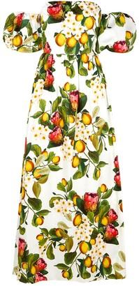 Borgo de Nor Juliet Floral-print Cotton Maxi Dress