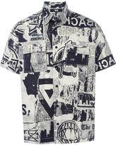 Kokon To Zai newspaper print shortsleeved shirt