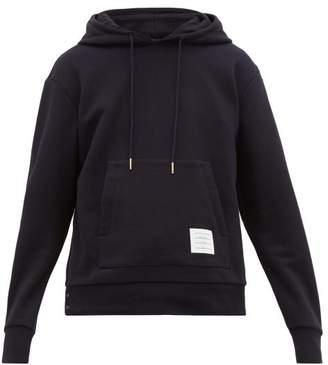 Thom Browne Striped Cotton Hooded Sweatshirt - Mens - Navy