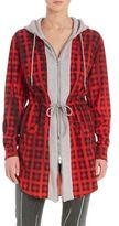 Moschino Check Hooded Zip-Up Sweatshirt Jacket