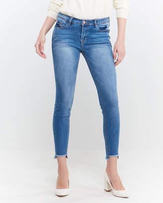 Kensie Pilsey Step Hem Skinny Jeans