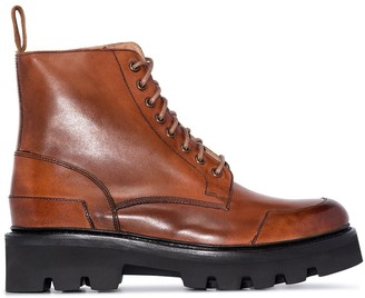 Grenson Bessie lace-up leather ankle boots
