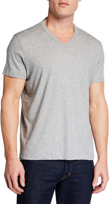 Tom Ford Men's Short-Sleeve V-Neck T-Shirt, Gray
