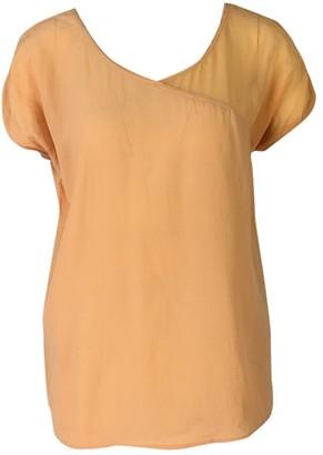 American Vintage Orange Silk Tops