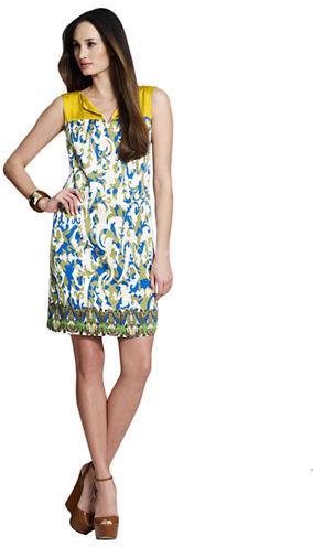Jones New York Collection JONES NEW YORK Floral Colorblock Shift Dress