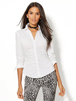 New York & Co. 7th Avenue Design Studio - Shirred Madison Stretch Shirt