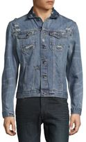 Calvin Klein Distressed Button-Front Denim Jacket