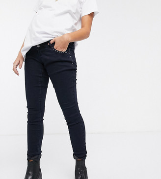 Mama Licious Mamalicious slim jeans wuth bump band