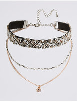 M&S Collection Bugle Detail Choker Necklace