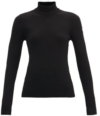 Fusalp Rita High-neck Diamond-matelasse Sweater - Black