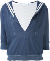 Pierre Balmain sailor collar top - women - Cotton - 36