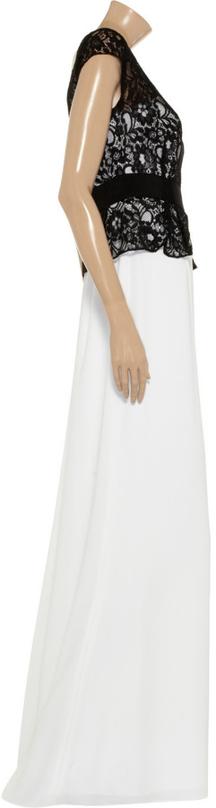 Mikael Aghal Lace and crepe gown