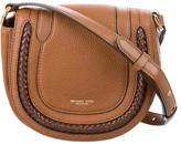 Michael Kors Braided Leather-Accented Crossbody Bag
