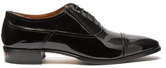 Gucci Vernice Patent-leather Derby Shoes - Mens - Black