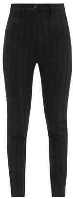 Ann Demeulemeester Pintucked Wool-blend Twill Trousers - Black