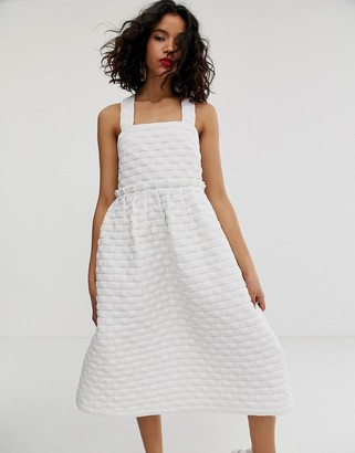 ASOS volume tiered dress
