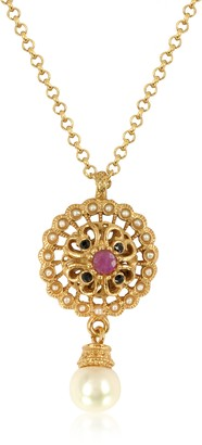 Alcozer & J Mandala Necklace w/Pearl & Gemstones