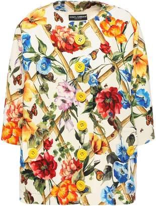 Dolce & Gabbana Printed Wool And Silk-blend Crepe Jacket