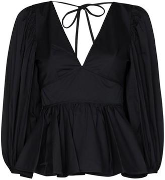 STAUD Luna peplum blouse