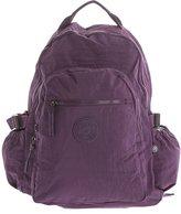 Big Handbag Shop Unisex Travel Lightweight Rainproof Fabric Backpack Rucksack (Purple)