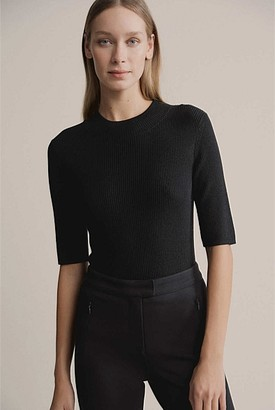 Witchery Crew Neck Wool Blend Knit