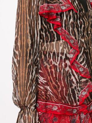Camilla Pirate Punk-print silk blouse