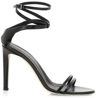 Giuseppe Zanotti Double Strap Embossed Leather Sandals