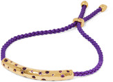 Monica Vinader Esencia cord and gold-tone friendship bracelet