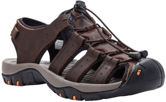 Propet Men's Leather Fisherman Sandals - Kona