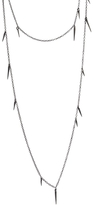 Marion Cage Point Scatter Chain Necklace - Black Rhodium