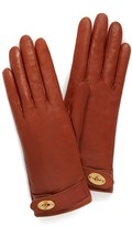 Thumbnail for your product : Mulberry Darley Gloves Cognac Smooth Nappa