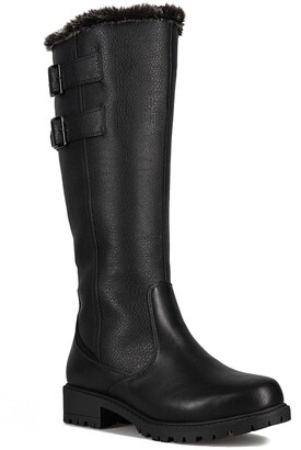 Aquatherm By Santana Canada Poppy Waterproof Faux Fur Tall Snow Boot