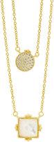 Freida Rothman Double Pendant Necklace