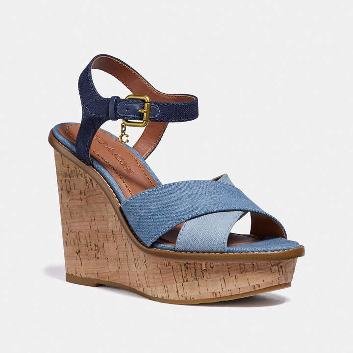 3a708773ec Rubber Heel Wedges Sandals - ShopStyle UK