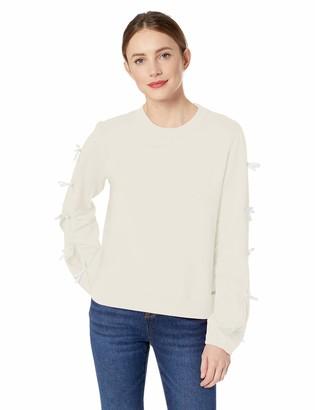 Betsey Johnson Women's Sweatshirt with Side Bow Detail