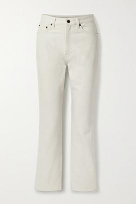 The Row Christie High-rise Straight-leg Jeans - Light gray