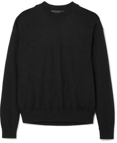 Alexander Wang Layered Merino Wool And Cotton-blend Sweater - Black