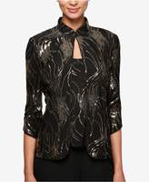 Alex Evenings Petite Sequined Jacket and Shell