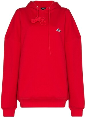 we11done oversized logo hoodie