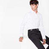 Paul Smith Men's Tailored-Fit White Charm-Button Contrast Cuff Shirt