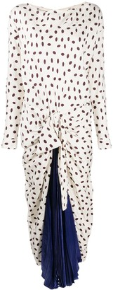 Marni Polka-Dot Pleated Dress