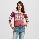 Freeze Women's Squad Goals Graphic 3/4 Tee Burgundy