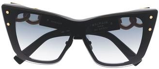 Balmain Eyewear Cat-Eye Frame Sunglasses
