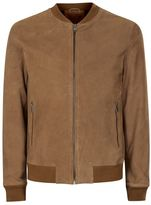 Selected Brown Suede Bomber Jacket