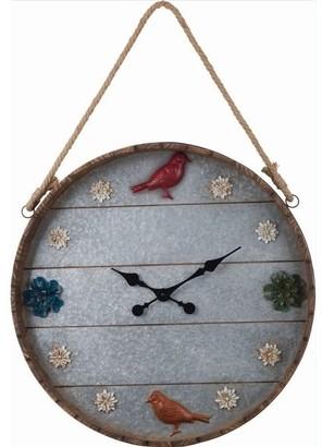 Transpac Metal Outdoor 23.5-Inch Wall Clock
