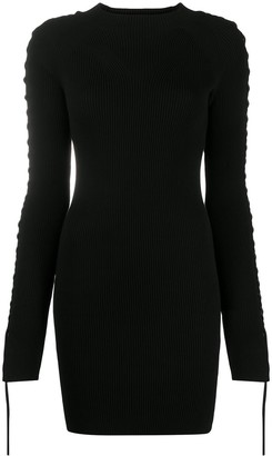 Diesel Lace-Seam Knitted Mini Dress