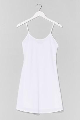 Nasty Gal Womens Swing It Ribbed Mini Dress - White - 12