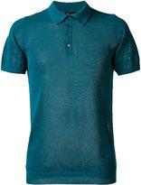 Roberto Collina net polo shirt - men - Cotton - 52