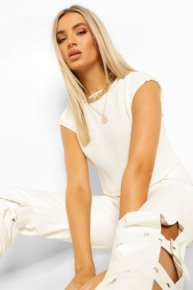 boohoo Soft Knit Cropped Knitted Tank